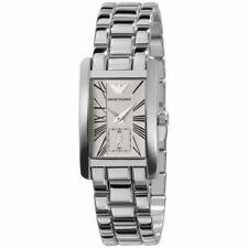 Emporio Armani AR0176 Classic Silver Chronograph White Dial 25mm Women's Watch