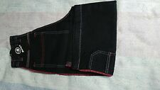 Berny's Branded Black Half Pipe Skater Jean Shorts