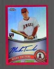 2011 Topps Chrome #178 Mark Trumbo (Red Refractors Auto 16/25) Baseball Rookie
