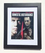 "Domestic Disturbance JOHN TRAVOLTA Autographed FRAMED Photo COA ""FRANK MORRISON"""