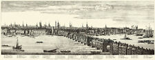 London Panorama 1749 - Complete Set of 5 Sheets - Large Reprints