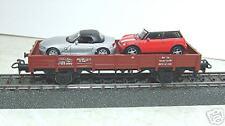 Märklin 4423 Vagón de bordes bajos Kklm DB 505 con Autos #NUEVO
