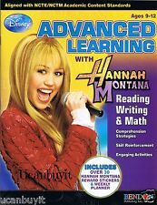Miley Cyrus is HANNAH MONTANA Reading Writing Math Advanced Workbook Ages 9-12