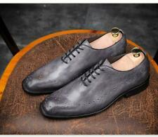 Patent Leather Mens Busienss Formal Wedding Dress Shoes Square Toe Oxfords New