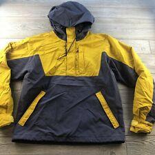 *The North Face Men's VTG Windbreaker Half Zip Hooded Pullover Jacket Yellow M