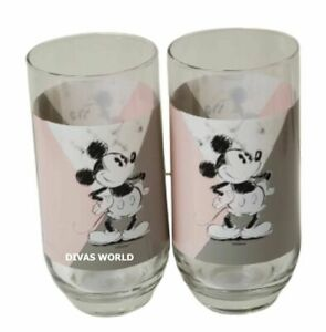Disney Mickey Mouse Tumbler Pack Of 2 Large Drinking Glasses Novelty Gift set