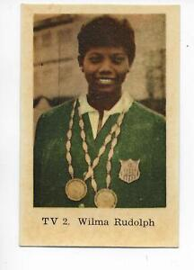 Wilma Rudolph Olympic Track Athlete Gold Swedish Trading Card 1962 Number TV 2