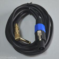 "2 Pole Speakon Jack Loud Speaker to 1/4"" Mono 2 Metre Loudspeaker Lead Cable"