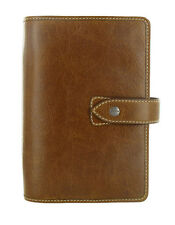Filofax Malden Ochre Personal Organiser Real Brown Buffalo Leather Diary 425808