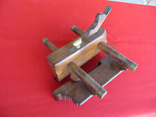 Antique STANIFORTH & FOOD Wedge Arm Wooden Plow Plane Vintage Woodworking Tool