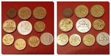 Lithuania 1; 2; 5x10; 3x20 Centu Circulated Pre Euro Coins