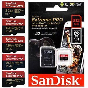 Carte mémoire Micro SD SDHC SDXC SanDisk Extreme PRO►32►64►128►256►400►512 Go Gb