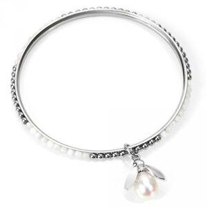 bracciale Morellato acciaio rigido coll animalia SKQ05 ape perla cristal