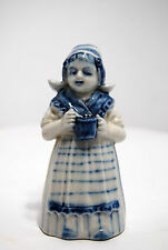 Cloche Clochette porcelaine Delft fillette hollandaises XXe