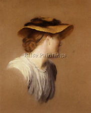 WATTS GEORGE FREDERICK PORTRAIT ARTISTS WIFE MARY ARTIST PAINTING OIL CANVAS ART
