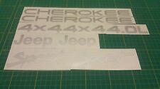 Jeep Cherokee Sport 4x4 Stickers decals graphics replacements restoration vinyls