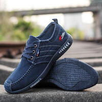 Mens Low Top Canvas Sneakers Walking Shoes Casual Trainers Espadrilles New Fashi
