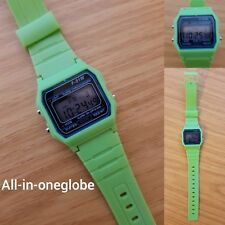 Replacement Casio F-91w Style Wrist Watch Retro Digital -green- UK Seller