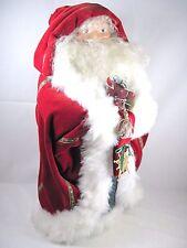 "Large St. Nicholas Santa 24"" tall handmade 1989 UFDC Convention helper  15"" wide"