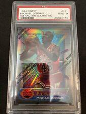 1994 Topps Finest Refractor Card Michael Jordan PSA 9 Rare #45 Bulls Jersey 🔥📈