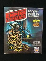 VINTAGE 1981 STAR WARS EMPIRE STRIKES BACK PAINT BY NUMBER YODA GLOW UNUSED NOS
