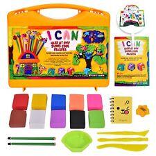 KRAFTZLAB Make My Own Mini Erasers Craft Kit - Ultimate Eraser Clay Set for Kids