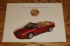 Original 1996 Chrysler Sebring Convertible Foldout Sales Brochure 96