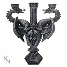 Nemesis Now Dragon's Altar Black Candle Holder Candelabra Gothic Decor