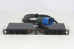 RATIO ELECTRIC PLP1052 Rack PDU, 32A 250V, 6x CEE Outlets