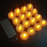 12Pack Flickering LED Candle Light Tealight Battery Operated with Remote Control