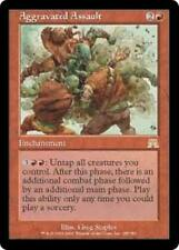 AGGRAVATED ASSAULT Onslaught MTG Red Enchantment RARE