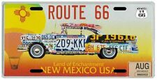 Route 66 Mother Road Old Car New Mexico Hot Air Balloon License Plate