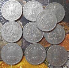 10 Coins LOT - ½ Rupee 1951 Nickel – 5.78 g – ø 24 mm - india