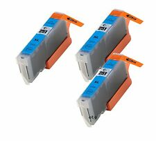 3 Pack Canon PGI-251XLC Compatible Ink for Pixma MG7520 iP7220 MX922 MX722 wCHIP