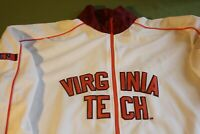VIRGINIA TECH ZIP UP LONG SLEEVE WHITE JACKET MEN'S SZ L