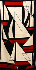 NAUTICA BEACH TOWEL BLUE WHITE RED SAILING BOATS NWT