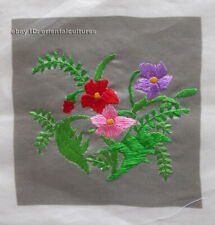 Chinese 100% hand embroidered silk suzhou embroidery art:flower 4.73inches