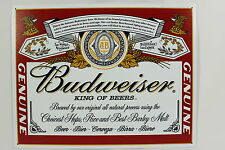 BUDWEISER LABEL METAL SIGN Anheuser Busch Brewery Logo NEW Beer Reproduction