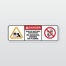 Machinery Safety Sticker: RISK OF EXPLOSION (Sumitomo, Yanmar, Caterpillar, etc)
