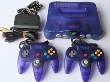 Purple Nintendo 64 N64 Console Complete Grape Funtastic Clear w/ 2 Controllers