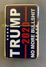Trump 2020 No More Bull. D8 Flip Top Oil Lighter Windproof