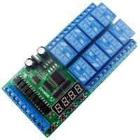Dc12V 8 Channels Multifunction Timer Delay Relay Board Time Switch Timing L I5N9