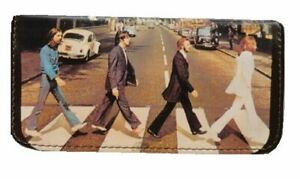 Tobacco Case Pouch Synthetic Leather Wallet Bag Smoke Rolling Black The Beatles