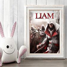 Assassin's Creed Personalizado cartel A5 Impresión Pared Arte Nombre Personalizado ✔