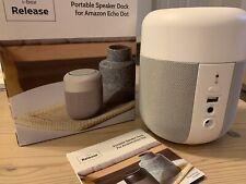 i-box Release Portable Speaker Dock For Amazon Echo Dot In White