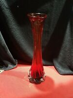 Large Murano Red Hit Glass Vase 40cm High 1.7kg