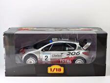 1:18 IXO ALTAYA PEUGEOT 206 WRC 2002 SWEDEN RALLY GRONHOLM RAUTAINEN
