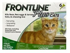 Frontline Plus for Cats 6 Doses Kills Fleas 8 Weeks & Older Over 1.5 lbs