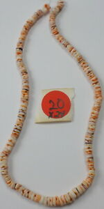 """17"""" Strand Spiny Oyster Shell Round Disc Pretty Heishi Beads 7mm Old Stock"""