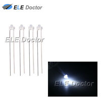 100pcs 1.8mm Diffused White-White Light LED Diodes DIP High Quality